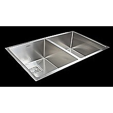 835x505mm Handmade 1.5mm Stainless Steel Undermount / Topmount Kitchen Sink with Square Waste