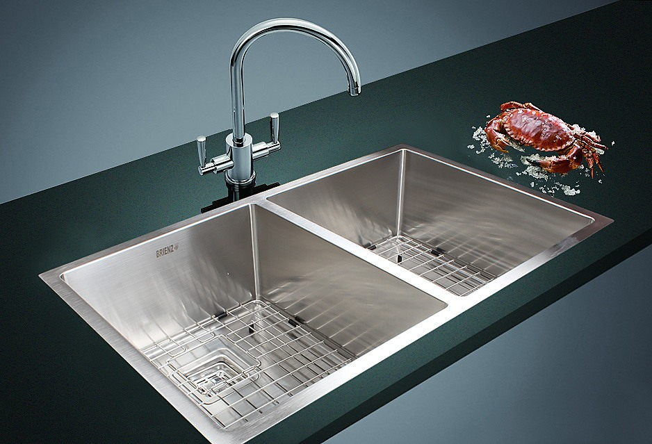 835x505mm Handmade 1 5mm Stainless Steel Sink With Square