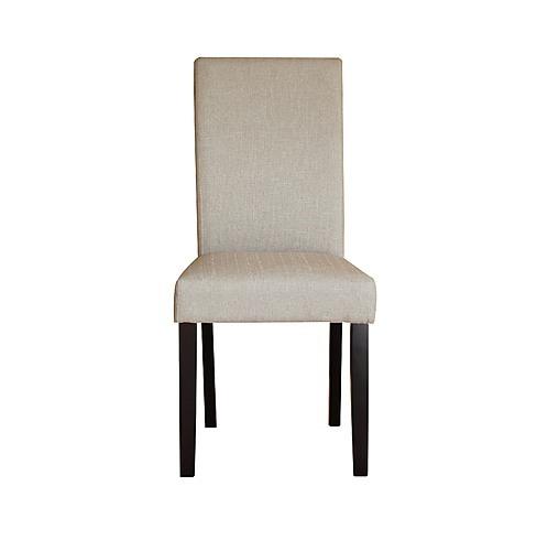 premium fabric linen palermo dining chairs high back dark sandy