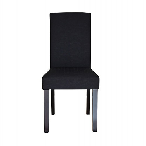 fabric linen palermo dining chairs high back black furniture