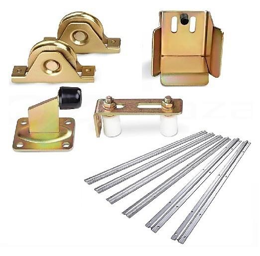 Sliding Gate Hardware Accessories Kit 6m Track Wheels