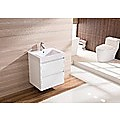 600mm Wall Hung Bathroom Vanity Unit With Polyurethane Finish, Artificial Stone Basin - Della Francesca