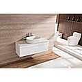 Bathroom Vanity 1200 White Wall Hung Narrow Ceramic Basin Stone