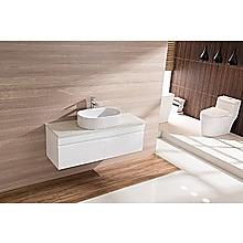 Bathroom Vanity 1200 White Wall Hung Narrow Ceramic Basin Stone