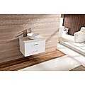 750mm Bathroom Vanity Ceramic Basin Stone Top Modern Ensuite Wall Mount