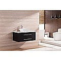 900mm Wall Hung Bathroom Vanity Unit With Stone Top, Basin - Della Francesca