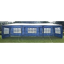 3x9m Outdoor Gazebo/Marquee Tent - Blue