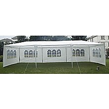 3x9m Wedding Outdoor Gazebo Marquee Tent Canopy White