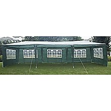 3x9m Outdoor Gazebo/Marquee Tent - Green