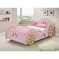 Pink Princess Car Bed Kids
