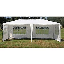 3x6m Gazebo Outdoor Marquee Tent Canopy White