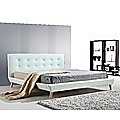 King PU Leather Deluxe Bed Frame - White