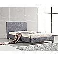 King Single Bed Frame Grey Linen Fabric