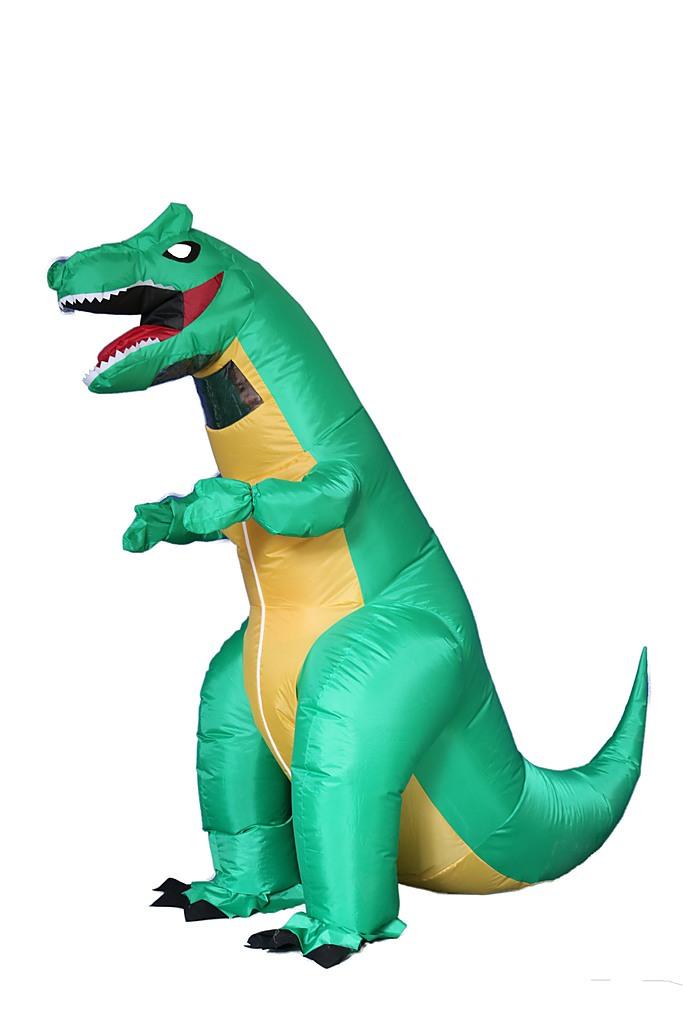 Dinosaur T Rex Fancy Dress Fan Inflatable Costume