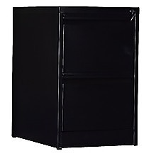 2-Drawer Shelf Office Gym Filing Storage Locker Cabinet - Black