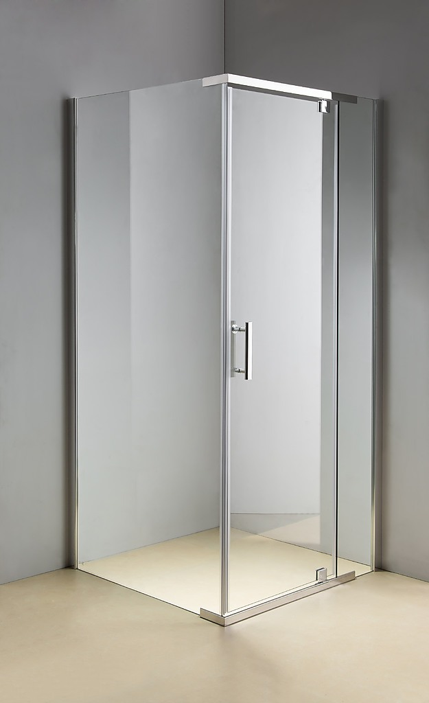 Shower Screen 900x900x1900mm Framed Safety Glass Pivot Door By Della