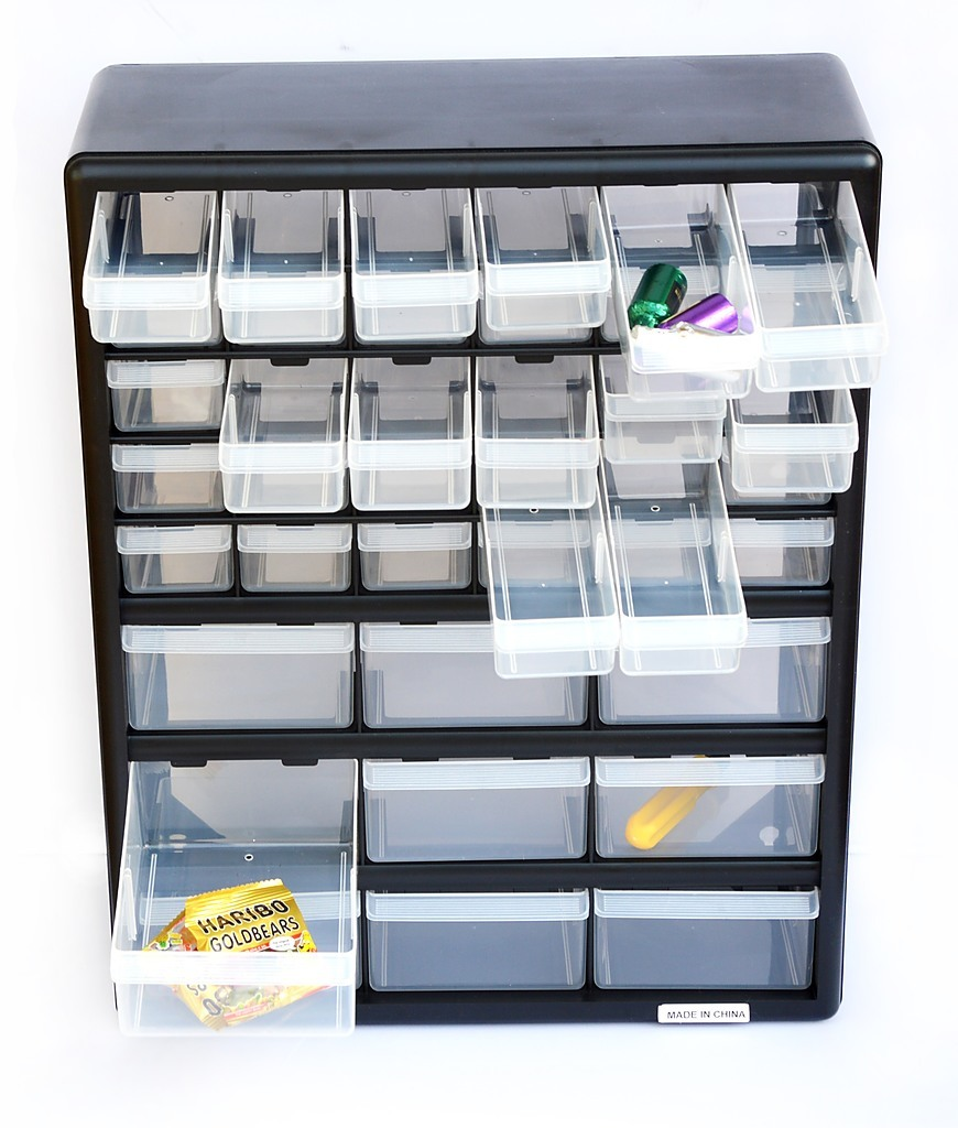 Storage Cabinet Drawers 39 Plastic Tool Box Containers