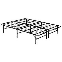 Queen Folding Metal Bed Frame Storage Platform Mattress Base