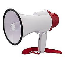Audio Megaphone 25Watt Bull Horn with Siren