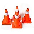 4pcs 45cm Road Traffic Cones Reflective Overlap Parking Emergency Safety Cone