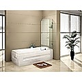 70 x 145cm Frameless Glass Bath Screen by Della Francesca Hardware: BLACK