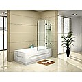 120 x 145cm Frameless Glass Bath Screen by Della Francesca Hardware: BLACK