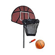 Trampoline Basketball Hoop Ring Backboard Ball Set