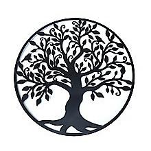 Black Tree of Life Wall Art Hanging Metal Iron Sculpture Garden 99cm