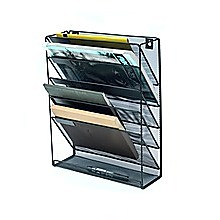 Wall Mount 6 Pocket Hanging File Sorter Organizer Folder Holder Rack Storage