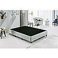 Palermo Queen Ensemble Bed Base Platinum Light Grey Linen Fabric