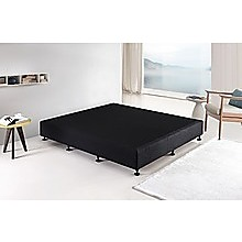 Palermo King Ensemble Bed Base Midnight Black Linen Fabric