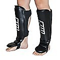 Gel Shin Instep Foot Pads MMA UFC Leg Kick Guards Muay Thai Boxing - Medium