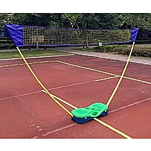 Folding Portable Badminton Combo Set Volleyball Net Outdoor Sports