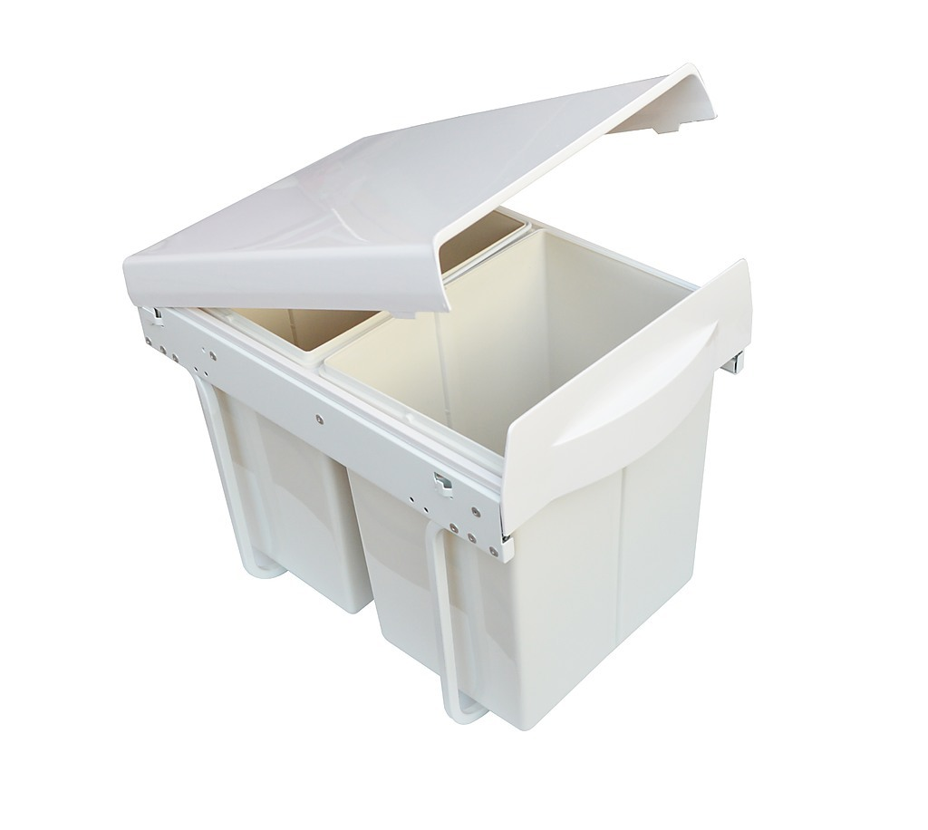 Kitchen Double Slide Pull Out Bin for Garbage Rubbish ...