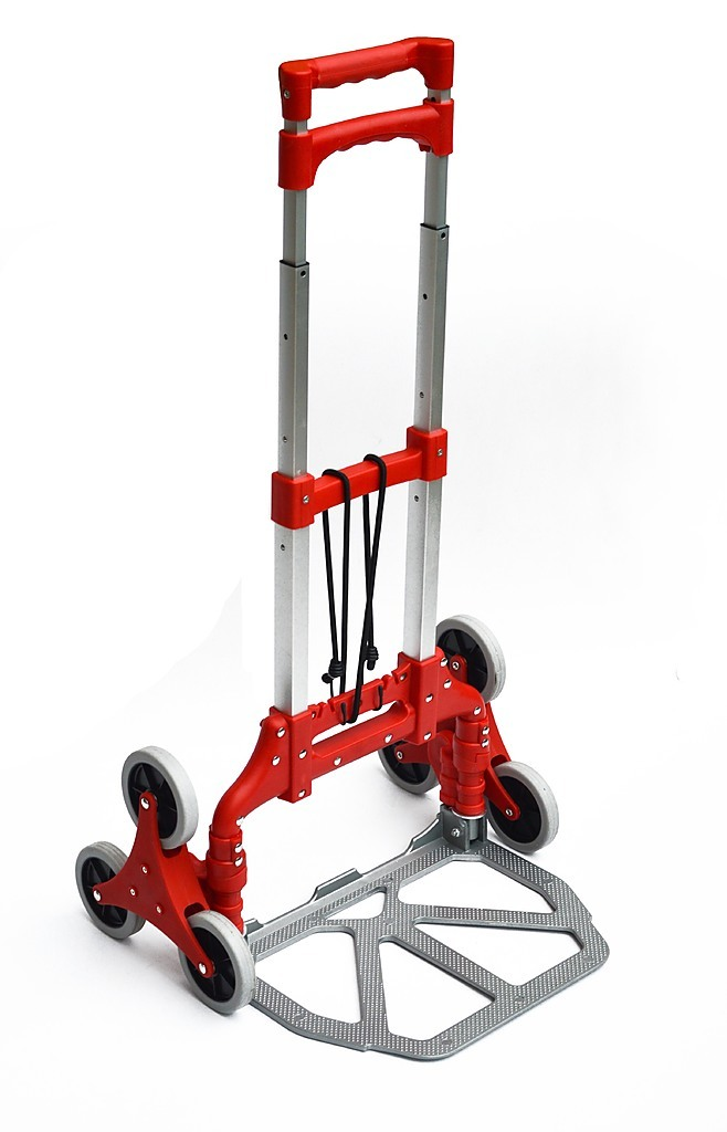 Stair Climbing Trolley 6 Wheels Aluminium Folding Hand