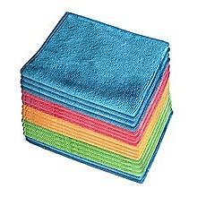 18x Microfibre Cleaning Cloth Microfiber Dish Car Gym Towel Glass 210GSM 40x30cm