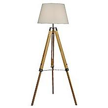 Modern Floor Lamp Wood Tripod Home Bedroom Reading Light 145cm