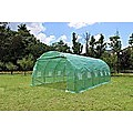 Walk In PE Greenhouse Tunnel Plant Garden Storage Shed - 6 x 3 x 2m