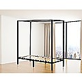 4 Four Poster Single Bed Frame - Black