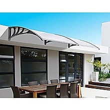 DIY Outdoor Awning Cover with Rain Gutter - 1 x 2m