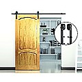 2.0m Black Sliding Barn Door Hardware