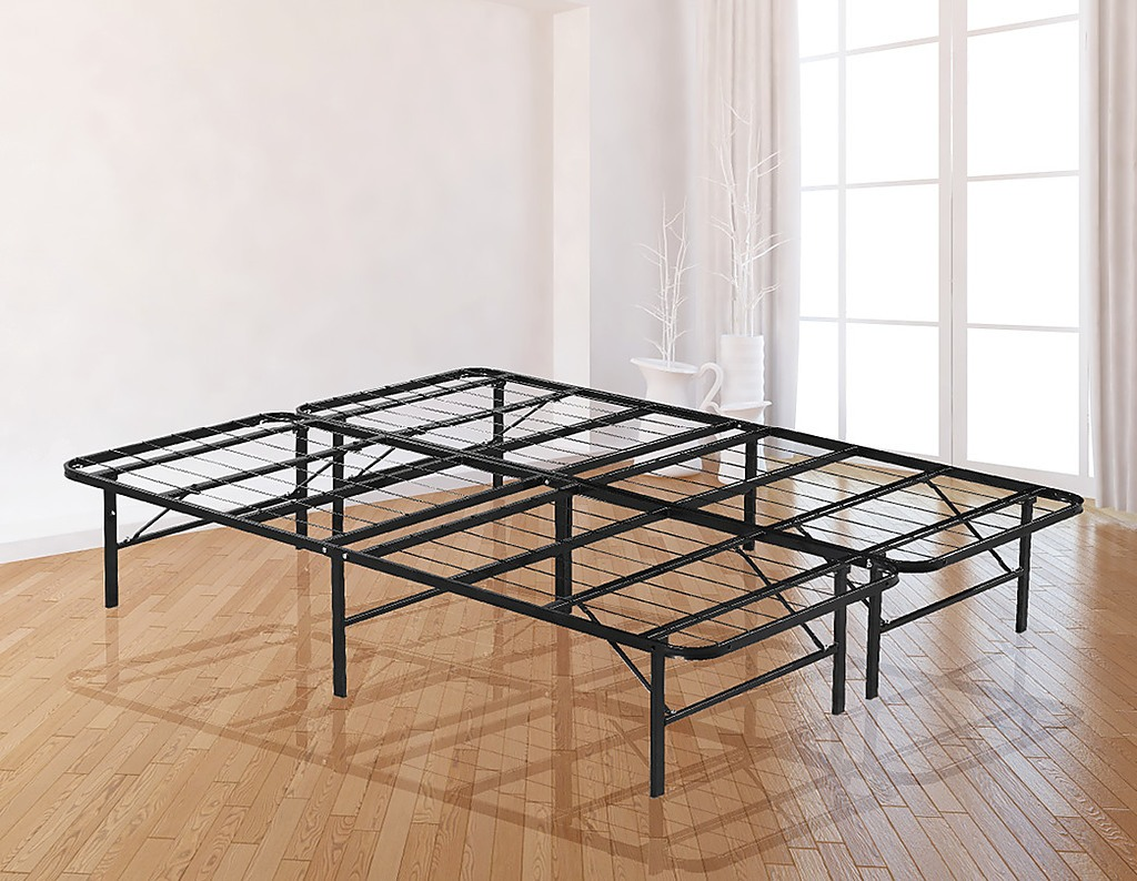 Queen Bed Frame.Checkout This Awesome Queen Folding Metal Bed Frame Storage Platform Mattress Base