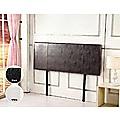 Double Brown PU Leather Bed Headboard Bedhead