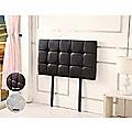 Single PU Leather Bed Deluxe Headboard Bedhead - Black