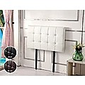 Single PU Leather Bed Deluxe Headboard Bedhead - White