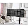 Double PU Leather Bed Deluxe Headboard Bedhead - Black