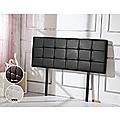 Queen PU Leather Bed Deluxe Headboard Bedhead - Black