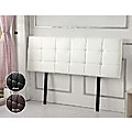 King PU Leather Bed Deluxe Headboard Bedhead - White