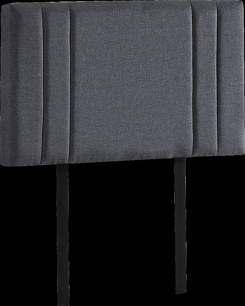Grey Single Headboard: Grey Linen Fabric Single Deluxe Headboard Bedhead