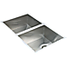 1.2mm Handmade Double Stainless Steel Sink with Waste - 770x450mm